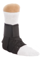 The all-sport ankle brace figure-eight nylon straps mimic taping to help prevent inversion/eversion