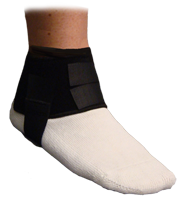 The plantar fasciitis wrap support provides continuous elastic tension