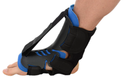 The dorsal night splint is a rigid ankle and foot brace that effectively alleviates most pain