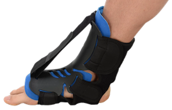 The dorsal hybrid night splint is a rigid ankle and foot brace that effectively alleviates most pain
