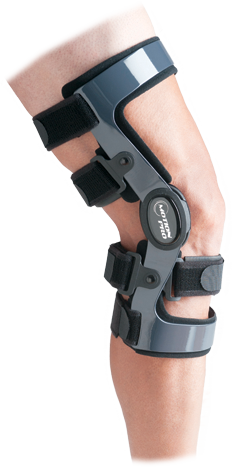 The motion pro functional knee brace has a magnesium frame that is extremely lightweight, yet strong
