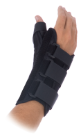 PatientForm 8 inch Thumb Spica has removable aluminum stays provide support for palmar surface of wrist and extensor surface of thumb