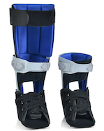 The recovery ankle brace hasa front closure and easy to use quick-lace system for quick, secure, and comfortable fit